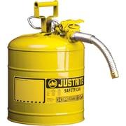 JustriteMD – Bidon de sécurité AccuFlowMC de type II, 5/8 po, jaune