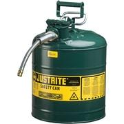 JustriteMD – Bidon de sécurité AccuFlowMC de type II, 5/8 x 11 1/2 x 18 po, vert