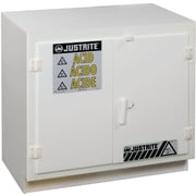 "Justrite® Solid Polyethylene Acid Cabinets, 4"" x 35 3/4"", 160Lb, Undercounter"