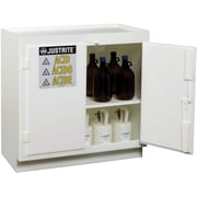 "Justrite® Solid Polyethylene Acid Cabinets, 4"" x 35 3/4"", 160Lb, Standalone"
