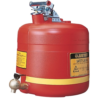 Justrite® Laboratory Safety Cans in Steel & Polyethylene, Polyethylene Shelf Can