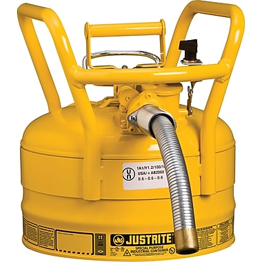 Justrite® D.O.T. AccuFlow™ Safety Cans, 1