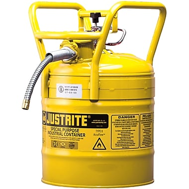 Justrite® D.O.T. AccuFlow™ Safety Cans, 5/8