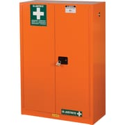 "Justrite® Emergency Preparedness Storage Cabinets, 43"" x 18"" x 63"", 315Lb, Orange"