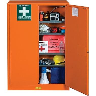 JustriteMD – Armoire de rangement pour préparation aux situations d'urgence, 43 x 18 x 63 po, 315 lb, fini orange