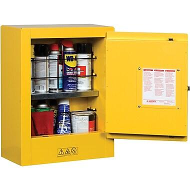 Justrite® Mini Sure-Grip® EX Safety Cabinets, 1 Door, Manual, Mini, Aerosols, 17