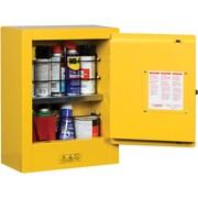"Justrite® Mini Sure-Grip® EX Safety Cabinets, 1 Door, Manual, Mini, Aerosols, 17"" x 8"" x 22"""