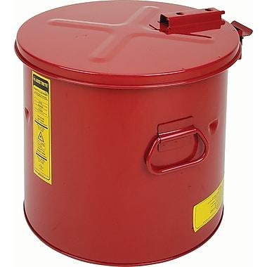 Justrite – Cuve de rinçage avec panier en acier, 6 gallons, 15 5/8 x 14 1/4 po, 1 lb