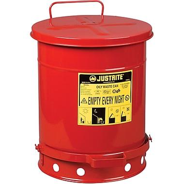 JustriteMD – Poubelles à déchets huileux, 10 gal, 13 15/16 x 18 1/4 po, rouge