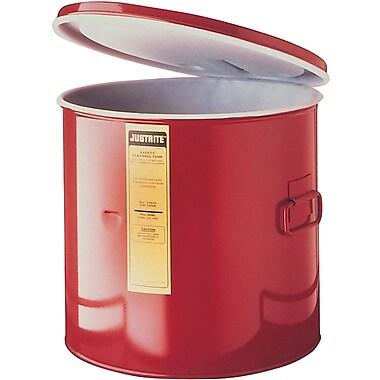 JustriteMD – Bac de trempage de 5 gallons en acier avec doublure en PEHD, 13 3/4 x 13 po, 1 lb