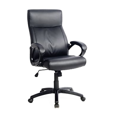CorLiving WHL-107-C Leatherette Managerial Office Chair, Black