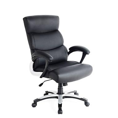CorLiving – Fauteuil de direction WHL-109-C en cuir synthétique, noir