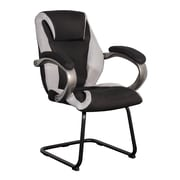 CorLiving WHL-300-C Leatherette and Mesh Office Guest Chair, Black