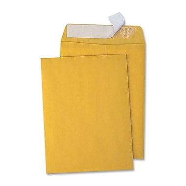 Quality Park Redi-Strip Open End Kraft Catalog Envelopes, 10