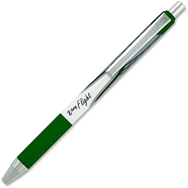 Zebra Z-Grip Flight Retractable Pens, 1.2mm, Green, Each
