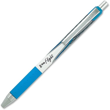 Zebra Z-Grip Flight Retractable Pens, 1.2mm, Teal