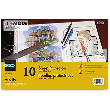 VLB Marketing Tabloid Size Sheet Protectors