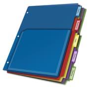 CardinalMD – Pochettes d'intercalaires extensibles, 9,8 po x 11,5 po, intercalaires translucides, couleurs variées