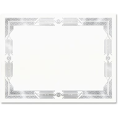 First Base Linen Certificates with Foil, 8.50