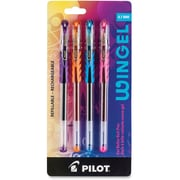 Pilot Revolutionary WinGel Ink Pens, 0.7mm, Assorted Colour Ink, 4/Pack