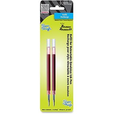 Zebra – Recharges d'encre pour stylo Emulsion, 1 mm, rouge, 2 par paquet