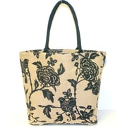 Leaf & Fiber Shopper Hand Bag, Bird Printed (LNFBG1026)