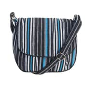 Leaf & Fiber, Eco Friendly Hand Made Messenger Bag, Solara-Blue