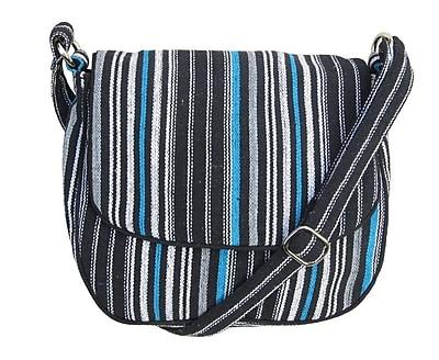 Leaf & Fiber, Eco Friendly Hand Made Messenger Bag, Solara-Blue