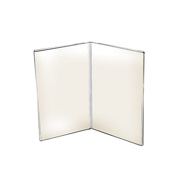 Azar Displays Clear Acrylic Dual Frame Sign Holders, 8.5