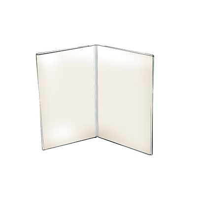 Azar Displays Acrylic Dual Frame Sign Holders 10/Pack