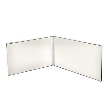 Azar Displays Clear Acrylic Dual Frame Sign Holders, 5.5