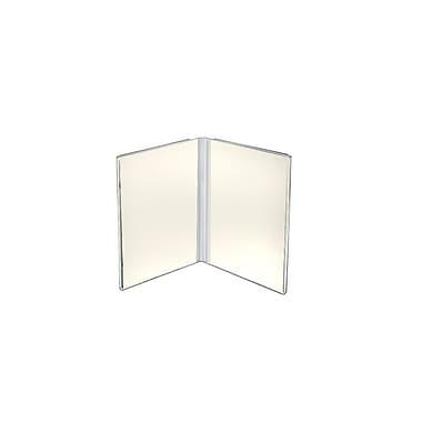 Azar Displays Clear Acrylic Dual Frame Sign Holders, 6
