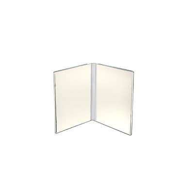 Azar Displays Acrylic Dual Frame Sign Holder 10/Pack
