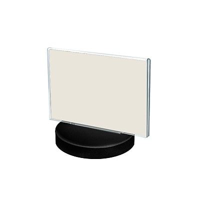 Azar Displays 2-Sided Round Base Sign Holder 5.5 x 8.5-inch 10/Pack