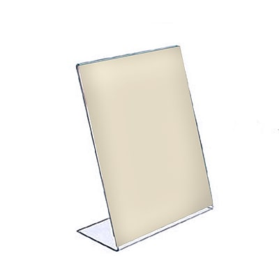 Azar Displays L-Shape Acrylic Sign Holder 10/Pack
