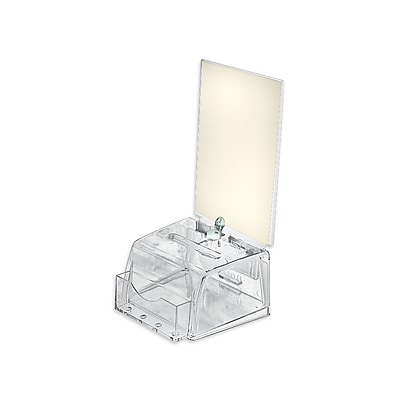 Azar® Small Molded Suggestion Box With Pocket, Lock and Key, Clear