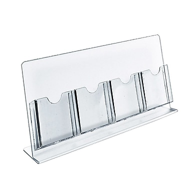 Azar Displays Counter Brochure Holders, 4 Tri-Fold Pockets, 2/Pack (222978-2 PACK)