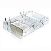 Azar Clear 3 Compartment Cosmetic Tray 1.5 x 9.12-inch