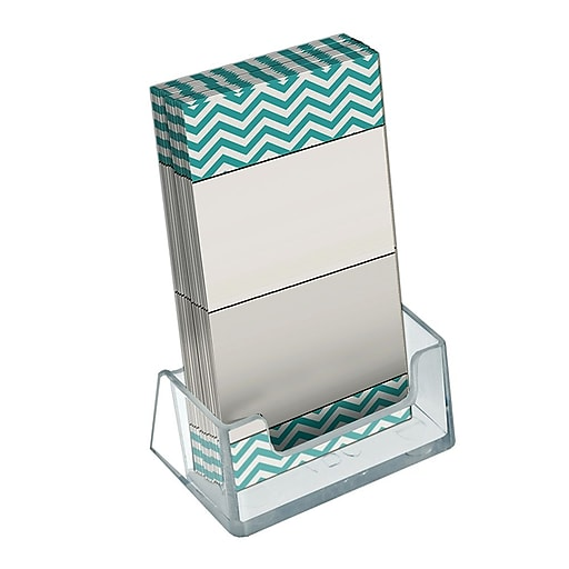 Azar displays vertical business card holder 3h x 362w 10pack httpsstaples 3ps7is colourmoves