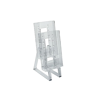Azar Displays Modular Brochure Holder, 9 x 4.12-inch