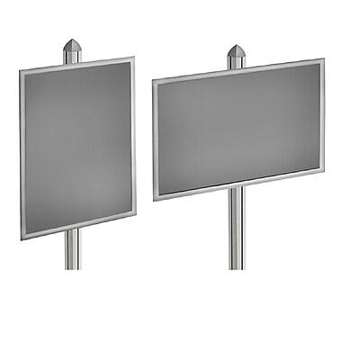 Azar Displays Snap Frame Display, 28H x 22W-inch (300290-SLV)