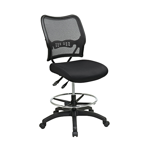 Office Star Space Seating AirGrid Back Drafting Chair, Black