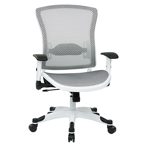 Space Seating Pulsar Nylon & Mesh Managers Chair, White