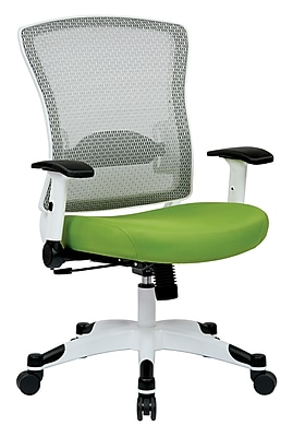 Space Seating Pulsar Mesh Computer and Desk Office Chair, Fixed Arms, Green (317W-W1C1F2W-6)