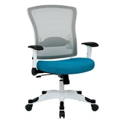 Space Seating Pulsar Mesh Computer and Desk Office Chair, Fixed Arms, Blue (317W-W1C1F2W-7)