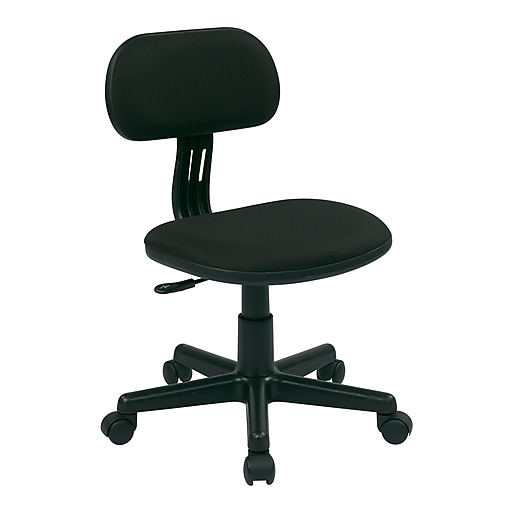 OSP Designs 499 Series Student Vinyl Back Fabric Computer and Desk Chair, Black (499-3)