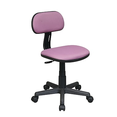 OSP Designs Fabric Computer and Desk Office Chair, Armless, Purple (499-512)