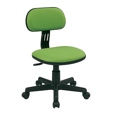 OSP Designs Fabric Computer and Desk Office Chair, Armless, Green (499-6)