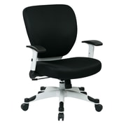 Space Seating Pulsar Mesh Computer and Desk Office Chair, Fixed Arms, Black (5200W-3)