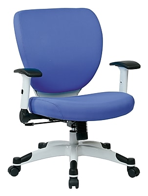 Space Seating Pulsar Mesh Computer and Desk Office Chair, Fixed Arms, Dove Sky (5200W-5877)